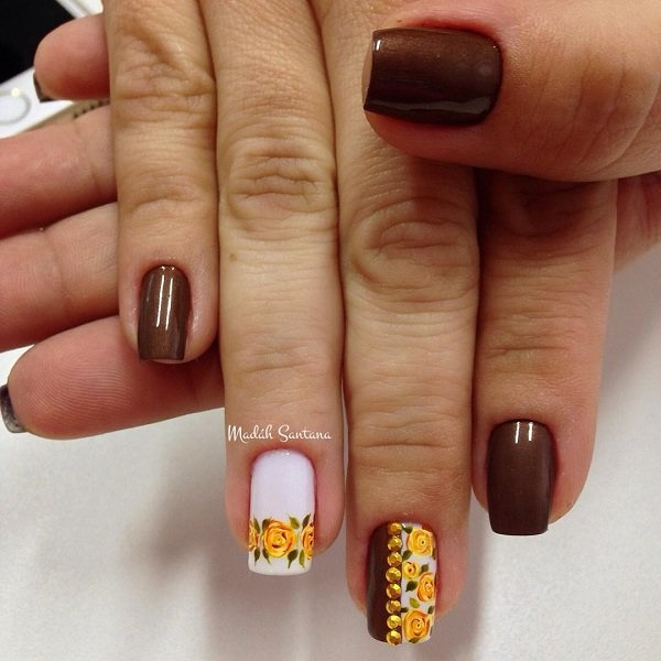 40 Easy and Attractive Fall Nail Art Ideas 7