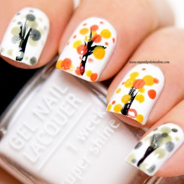 40 Easy and Attractive Fall Nail Art Ideas 8