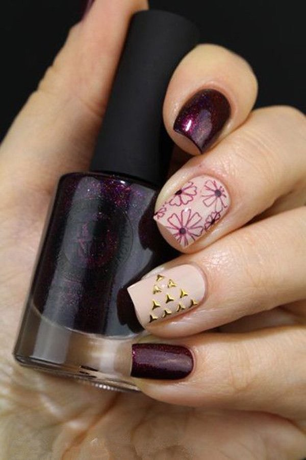 40 Easy and Attractive Fall Nail Art Ideas 9