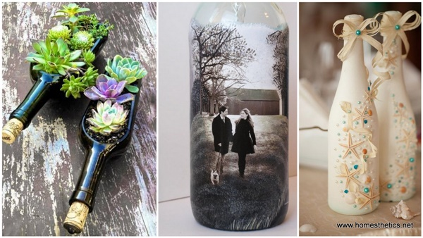 40 wine bottle decoration ideas hobby lesson for Empty bottle decoration ideas