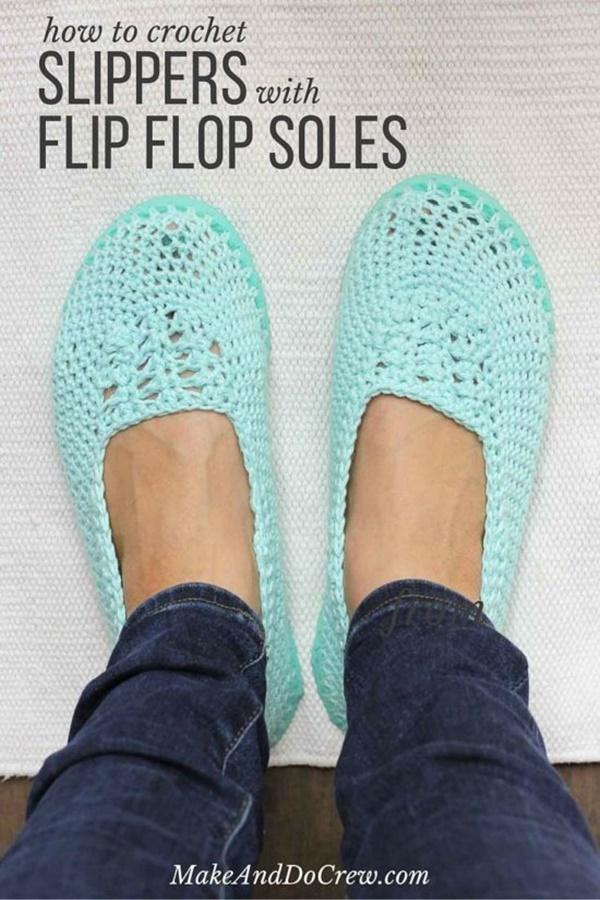5-simple-ideas-of-crochet-shoes-with-flip-flop-soles-1
