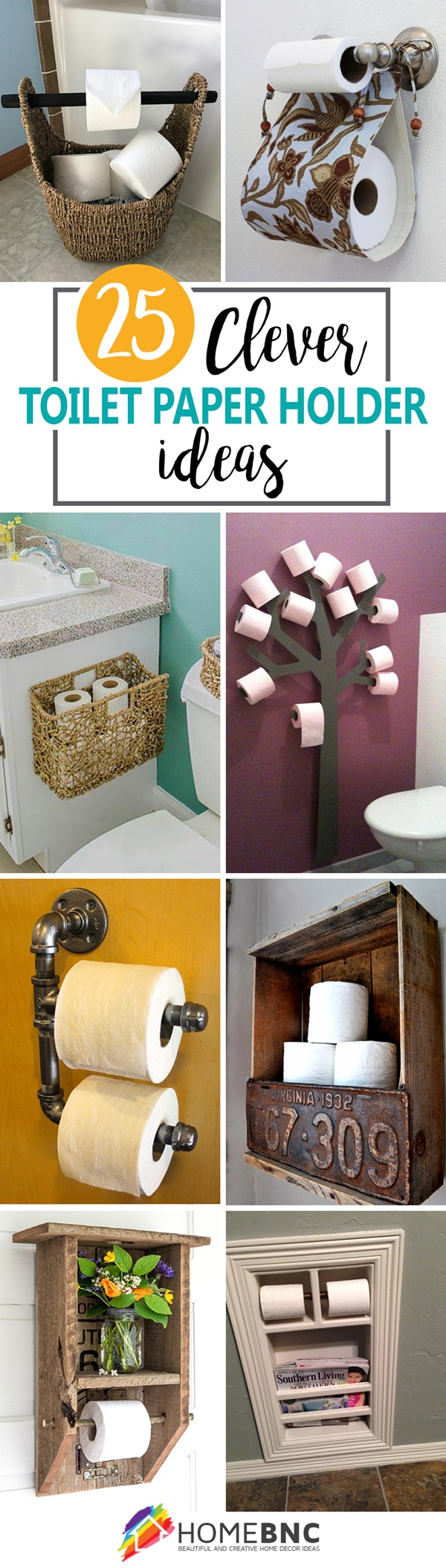 amazing ideas of DIY toilet paper holder 2