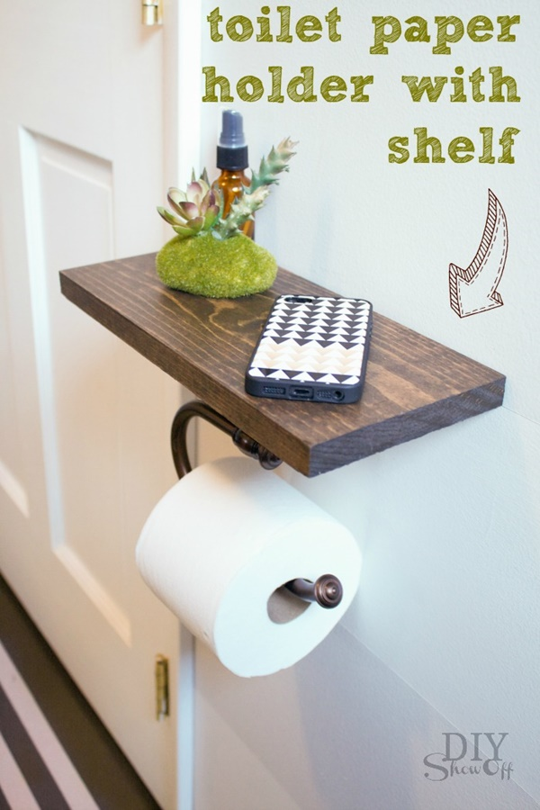 amazing ideas of DIY toilet paper holder 23c