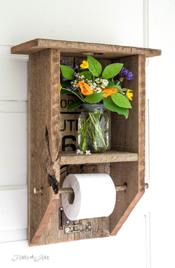 amazing ideas of DIY toilet paper holder 3