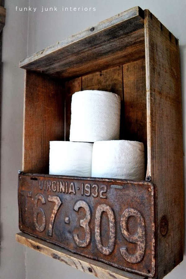 amazing ideas of DIY toilet paper holder 5