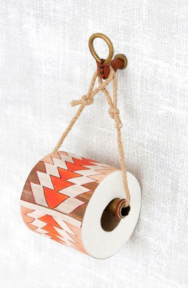 amazing ideas of DIY toilet paper holder 6