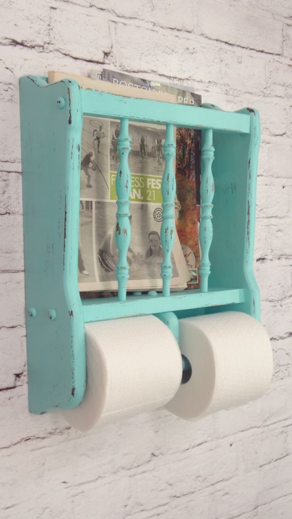 amazing ideas of DIY toilet paper holder 7