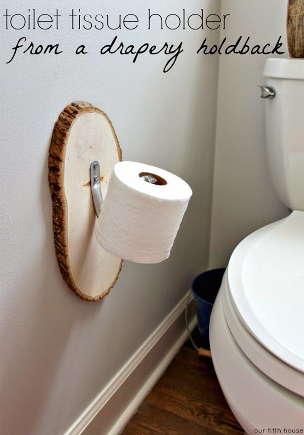 amazing ideas of DIY toilet paper holder 9