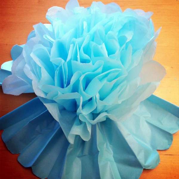 How to Make Giant Tissue Paper Flowers00006