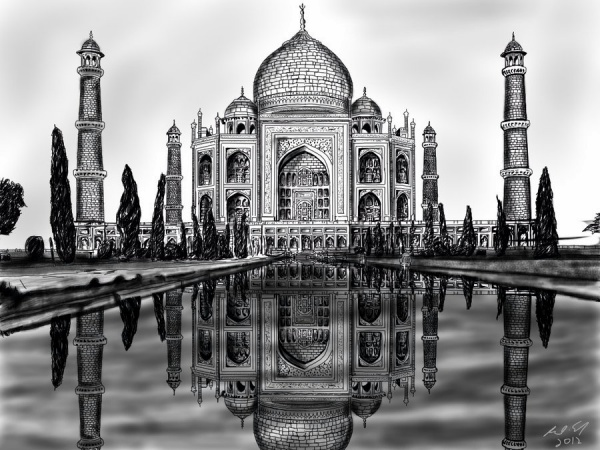 Beautiful Taj Mahal Drawings and Sketches00001