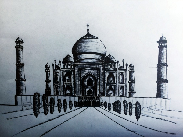 Beautiful Taj Mahal Drawings and Sketches00002