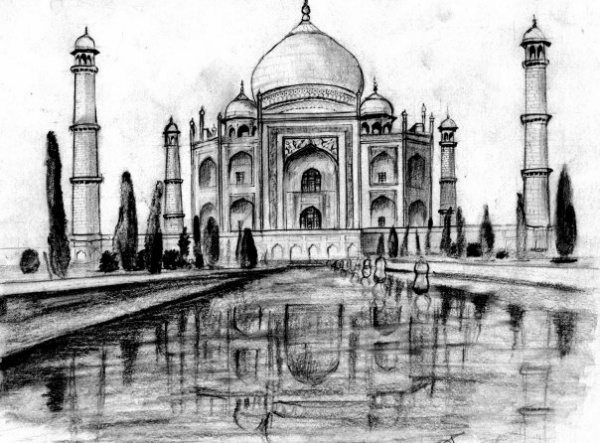 Beautiful Taj Mahal Drawings and Sketches00004