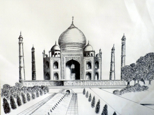 Beautiful Taj Mahal Drawings and Sketches00005