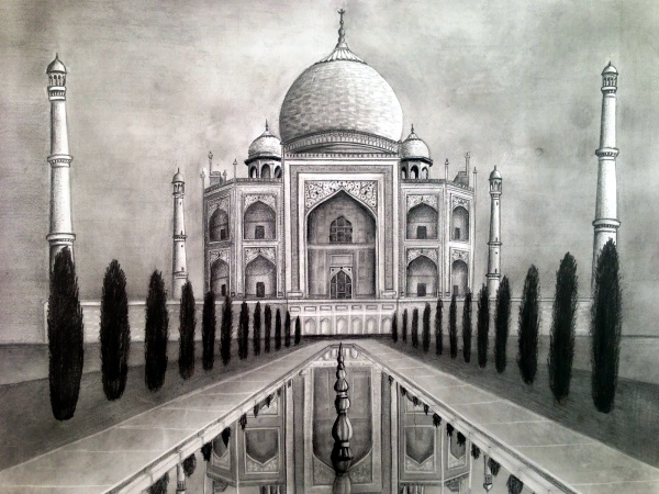 Beautiful Taj Mahal Drawings and Sketches00007