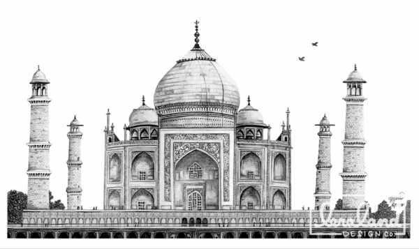 Beautiful Taj Mahal Drawings and Sketches00009