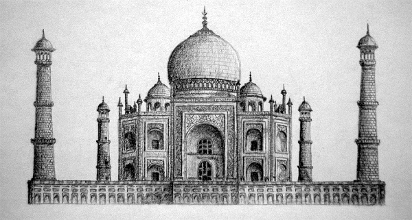 Beautiful Taj Mahal Drawings and Sketches00010