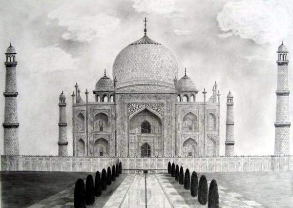 Beautiful Taj Mahal Drawings and Sketches00011