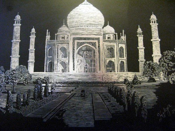 Beautiful Taj Mahal Drawings and Sketches00012