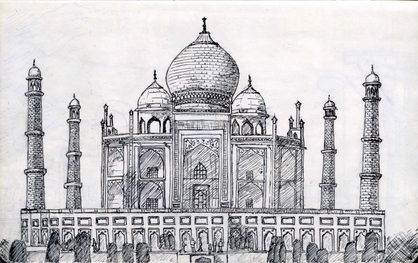 Beautiful Taj Mahal Drawings and Sketches00014