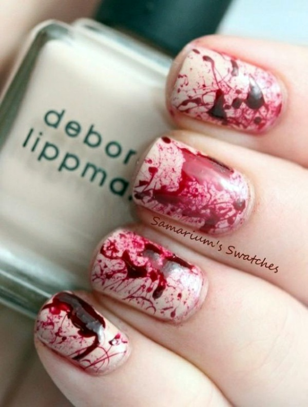 Scary Zombie Nail Art To Try On This Halloween00001