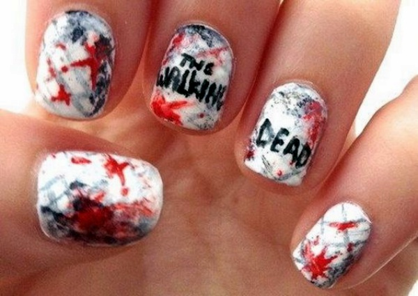 Scary Zombie Nail Art To Try On This Halloween00004