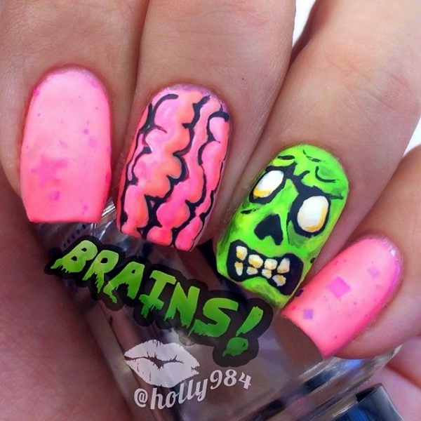 Scary Zombie Nail Art To Try On This Halloween00005