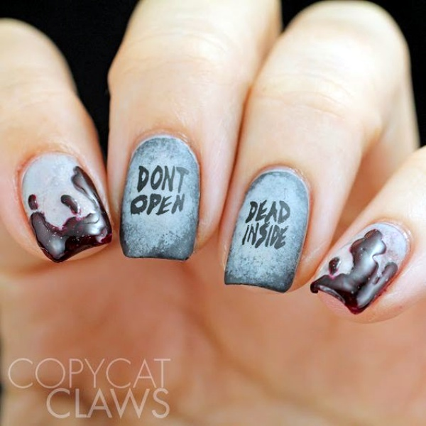 Scary Zombie Nail Art To Try On This Halloween00006