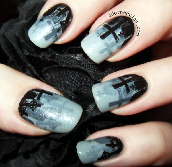 Scary Zombie Nail Art To Try On This Halloween00009