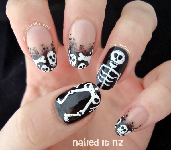 Scary Zombie Nail Art To Try On This Halloween00012