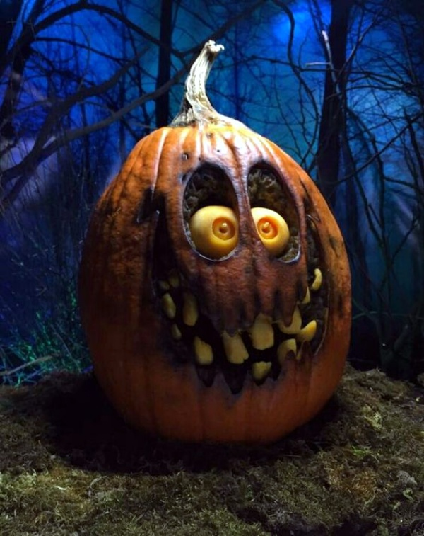 How to paint cute and scary faces on pumpkin pictures