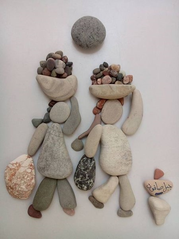 Rock-and-Pebble-Art-Examples
