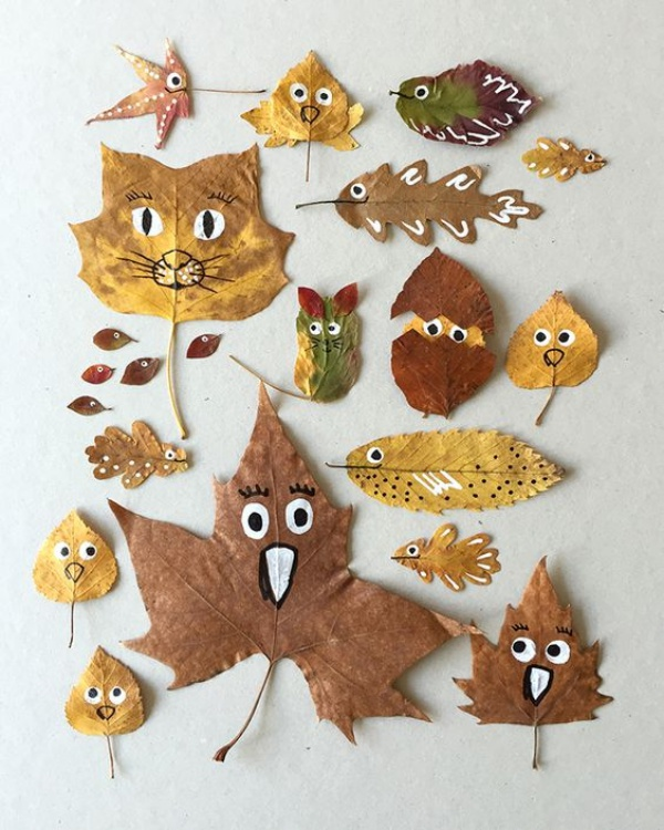 Creative Ways To Turn Fall Leaf Into Art