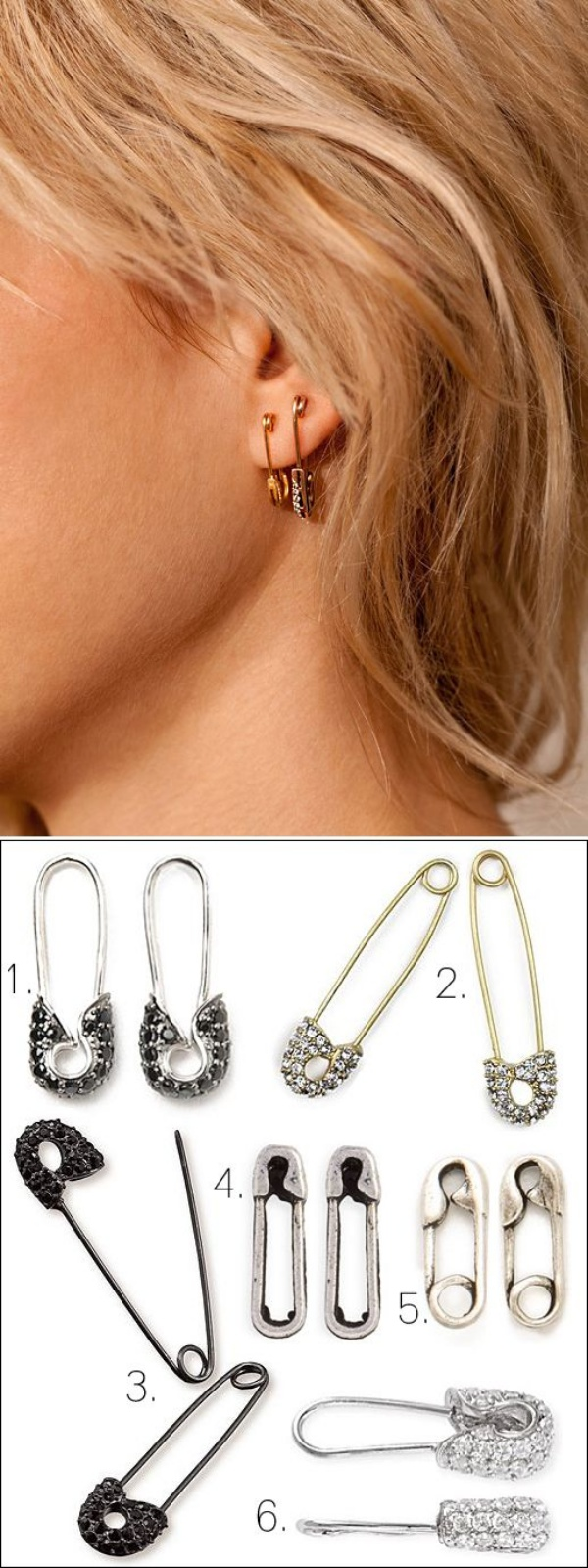 Make Your Own DIY Safety Pin Jewelry Ideas