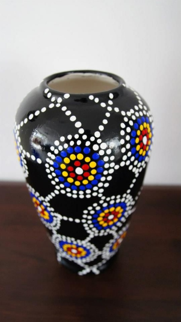 Ceramic Vase Painting Designs Children S Fingerprints Are