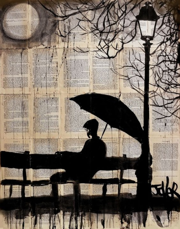 Raining Umbrella Painting Ideas width=