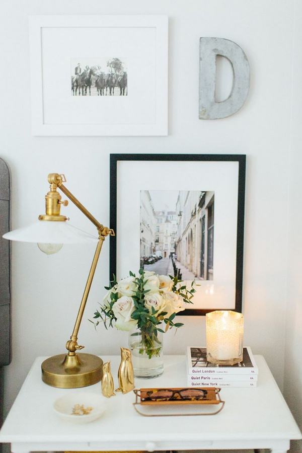 40 bedside table decor ideas to fill that odd gap for Side table decor bedroom