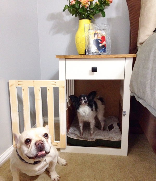 40 bedside table decor ideas to fill that odd gap for Dog room furniture
