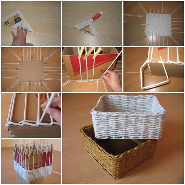 Easy Newspaper Craft Ideas