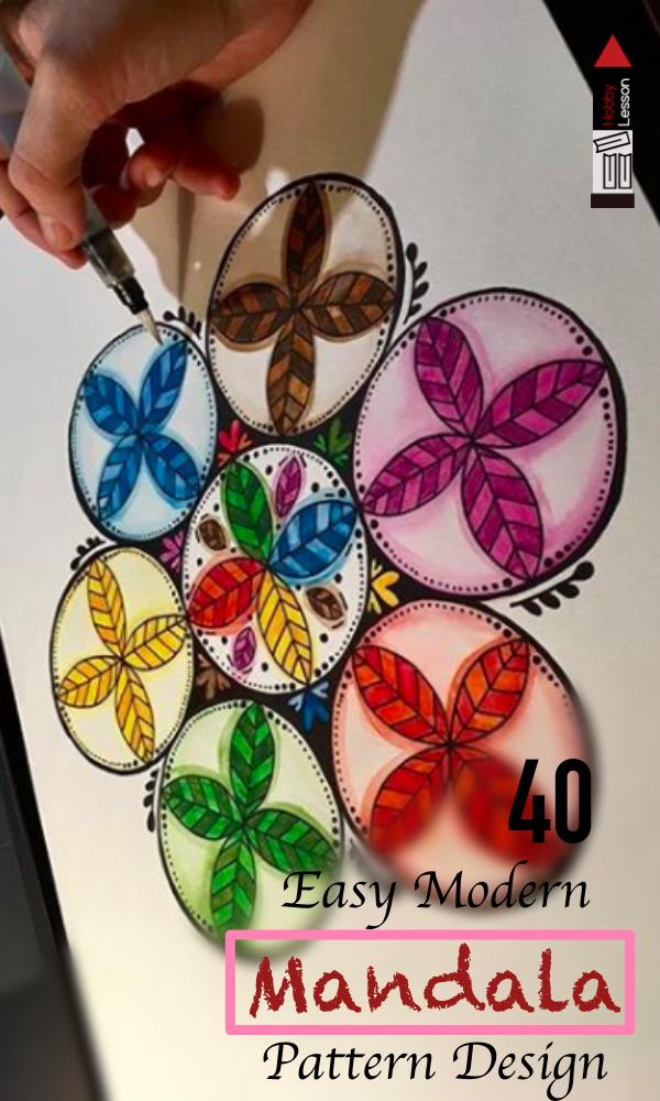 Easy Modern Mandala Pattern Design