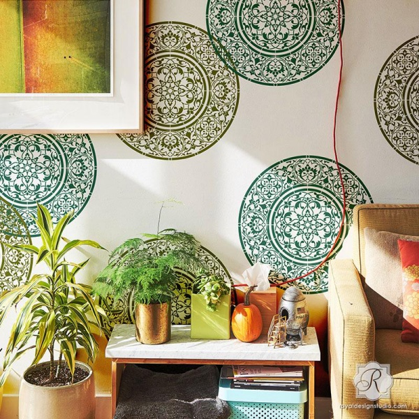 DIY Wall Stencil Designs to add Soul to Your Home