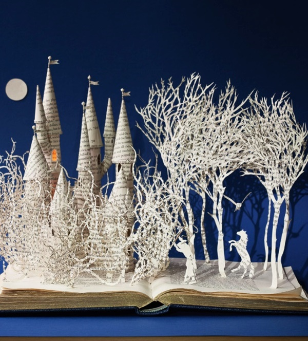 Detailed Paper Mache Town And Castle Art Works