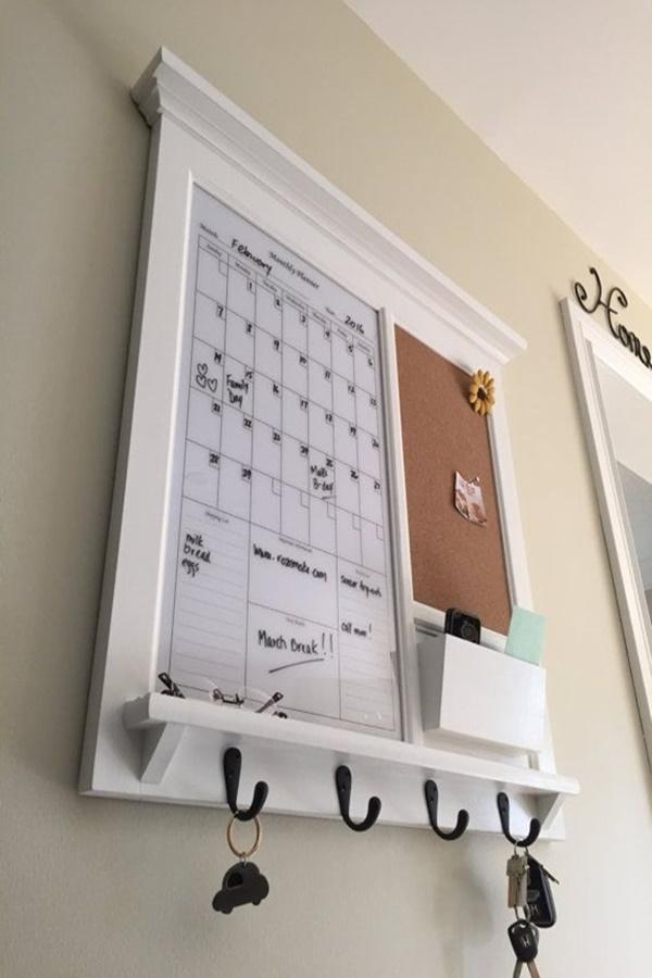 Cool DIY Keys and Mail Organizing Ideas