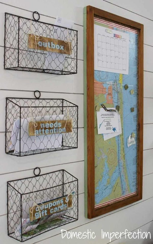 Cool DIY Keys and Mail Organizing Ideas