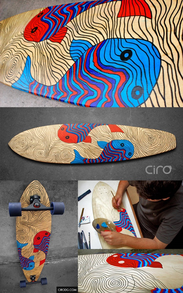 DIY Skateboard Deck Art Ideas