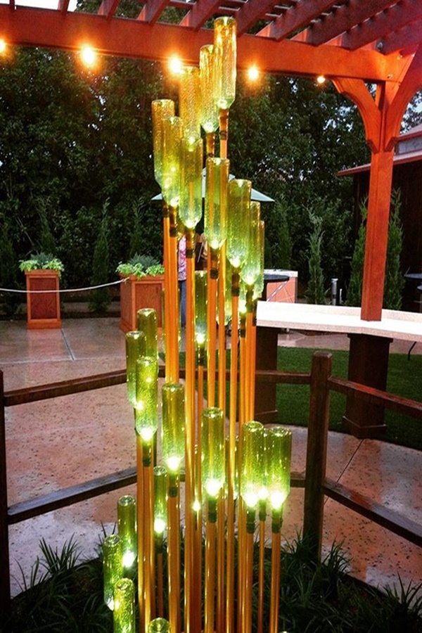 Amazing Wine Bottle Sculptures Ideas for Home