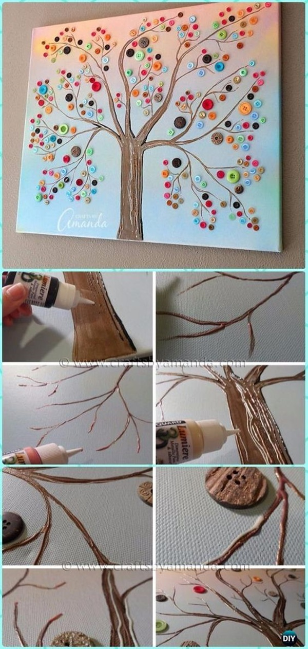 40 Creative and Easy Cheap DIY Canvas Wall Art Ideas