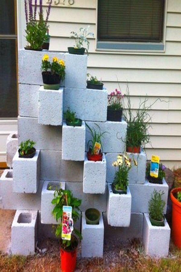 Decorative Cinder Block Planter Ideas