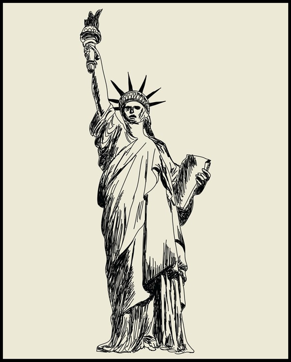 Easy And Beautiful Statue Of Liberty Drawings And Sketches