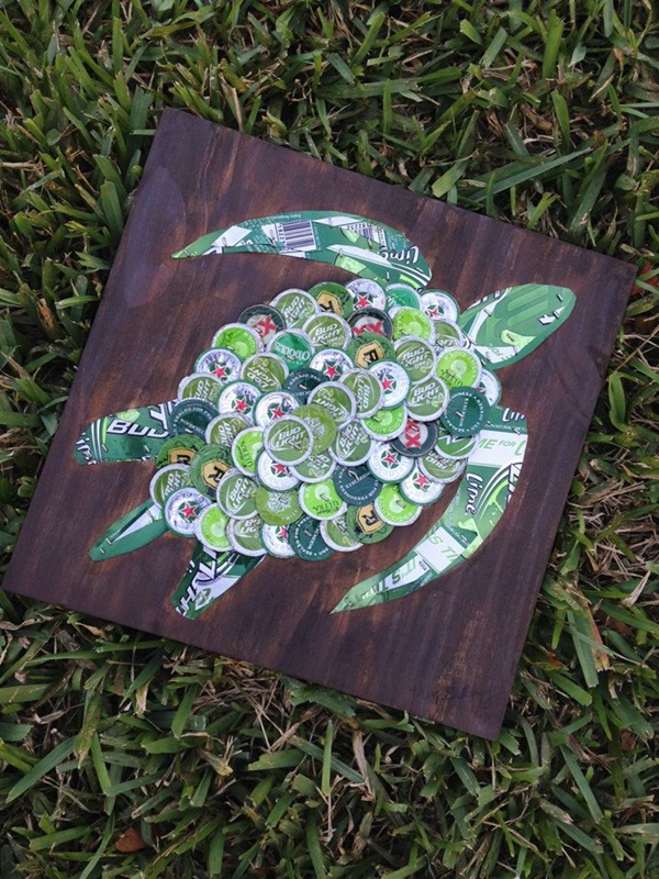 Beautiful Bottle Cap Painting Examples