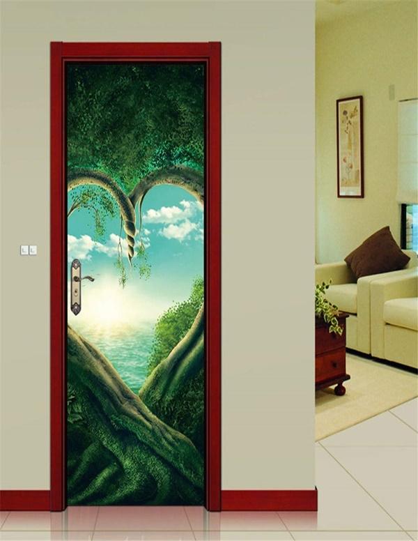 Cool and Fancy Washroom Door Stickers